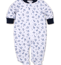 kissy kissy Kissy Kissy Rocket Science Print Footie with Zipper