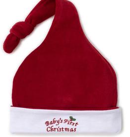 kissy kissy Kissy Kissy Baby's First Christmas Velour Stocking Hat