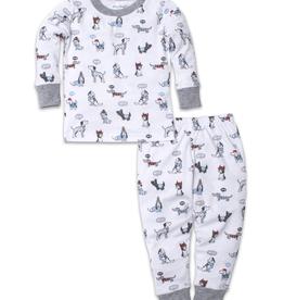 kissy kissy Kissy Kissy Classic Pups Print Pajama Set