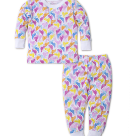 kissy kissy Kissy Kissy Rainbow Hearts Print Pajama Set