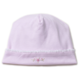 kissy kissy Kissy Kissy Pink Vines Hat with Hand Embroidery