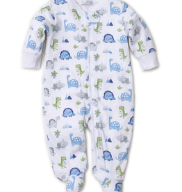 kissy kissy Kissy Kissy Dino Crew Print Footie with Zipper