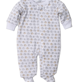 kissy kissy Kissy Kissy Humble Hedgehogs Print Footie with Zipper
