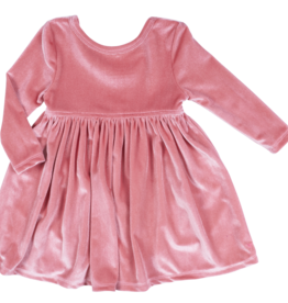 Pink Chicken Pink Chicken Baby Steph Velour Dress