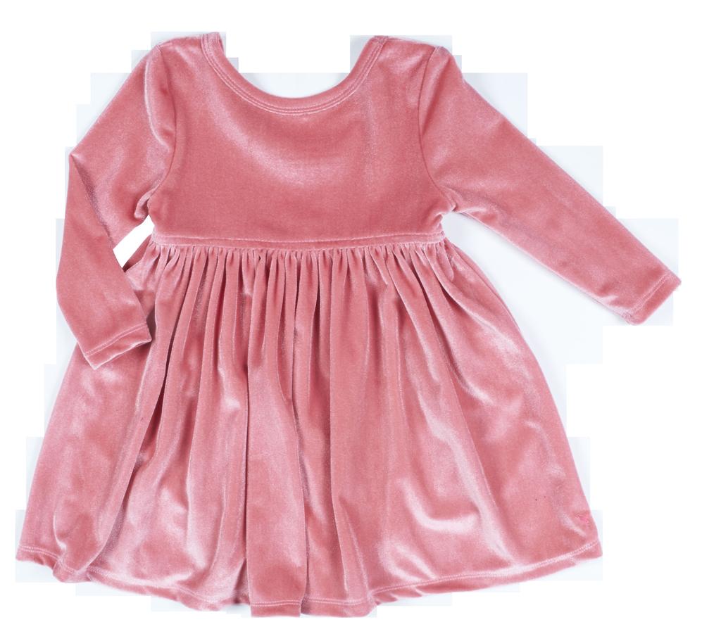 Pink Chicken Pink Chicken Baby Steph Velour Dress