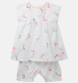 Joules Joules Edith Mini Mermaids Top and Pants Set
