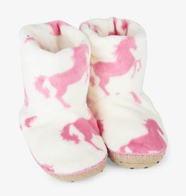 Hatley Hatley Playful Horses Fleece Slippers