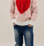 tooby doo Tooby Doo Faux Mohair Red Heart Sweater