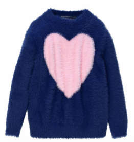 tooby doo Tooby Doo Faux Mohair Heart Sweater