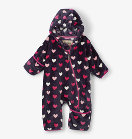 Hatley Hatley Lovey Hearts Fuzzy Fleece Baby Bundler