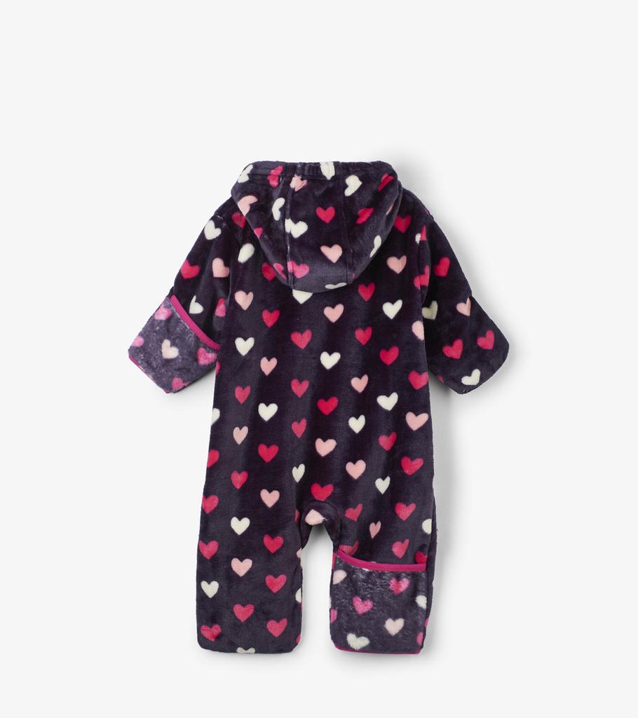 Hatley Hatley Lovey Hearts Fuzzy Fleece Baby Bundler