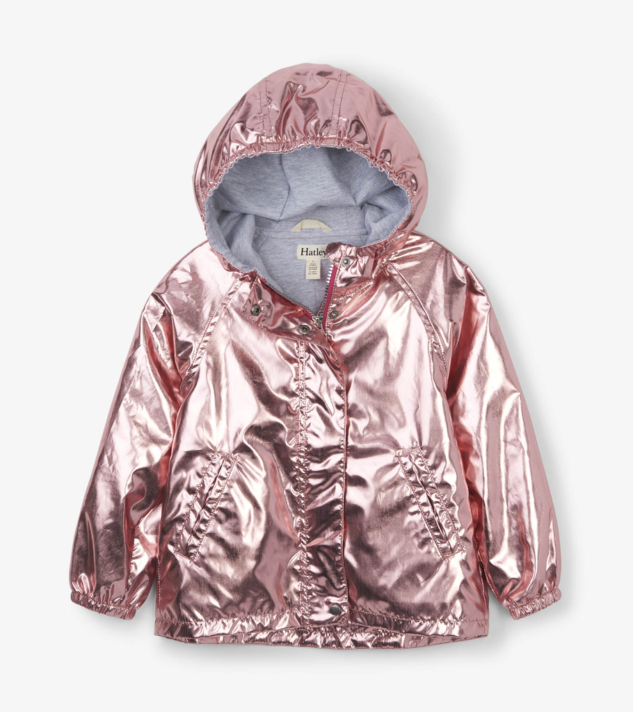 Hatley Hatley Bubble Gum Shimmer Terry Lined Jacket