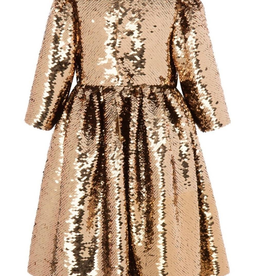 Lola & the Boys Lola & the Boys Rose Gold Party  Dress