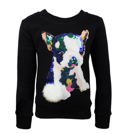Lola & the Boys Lola & the Boys Pop Art Sequin Dog Sweatshirt