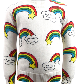 Lola & the Boys Lola & the Boys Smiley Cloud Sweater