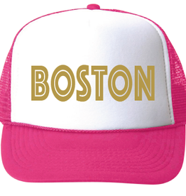 bubu Boston Baseball Hat-Gold Foil