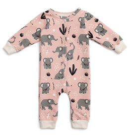 Winter Water Factory Winter Water Factory Elephants French Terry Jumpsuit *more colors*