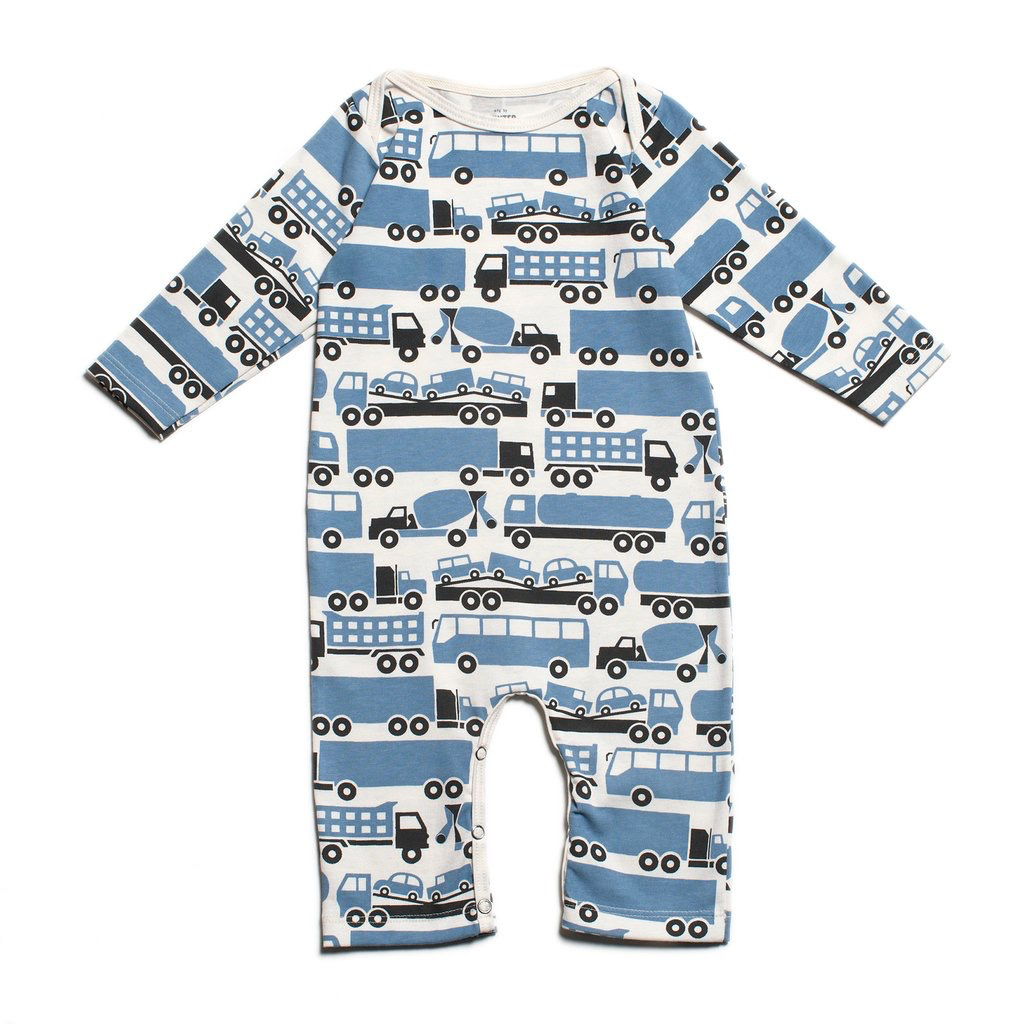 Winter Water Factory Winter Water Factory Big Rigs Long Sleeve Romper