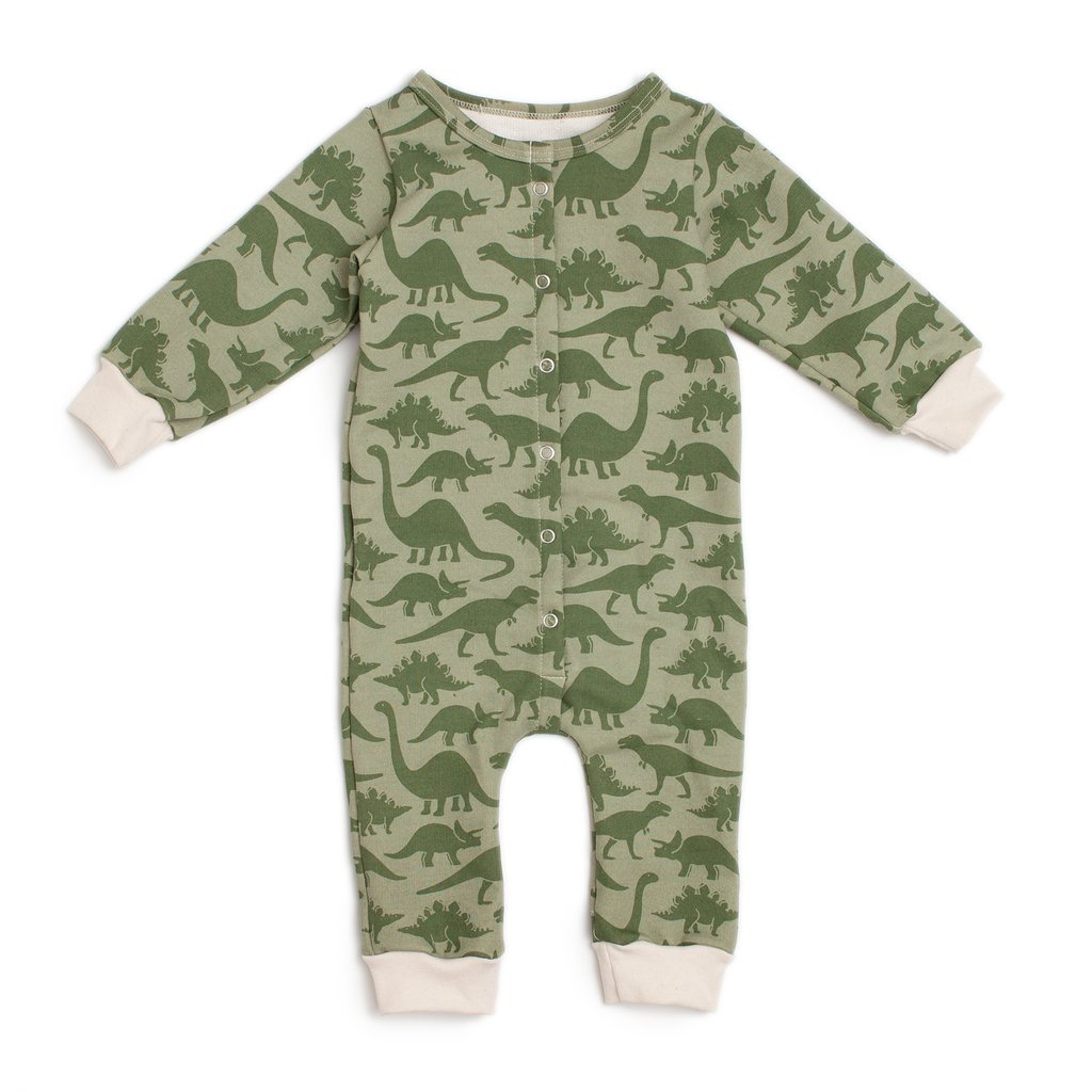 Winter Water Factory Winter Water Factory Dinosaurs French Terry Jumpsuit