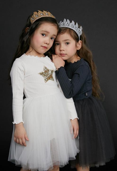 Petite Hailey Petite Hailey Long Sleeve Star Tutu Dress