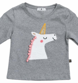 Petite Hailey Petite Hailey Unicorn Long Sleeve T-Shirt
