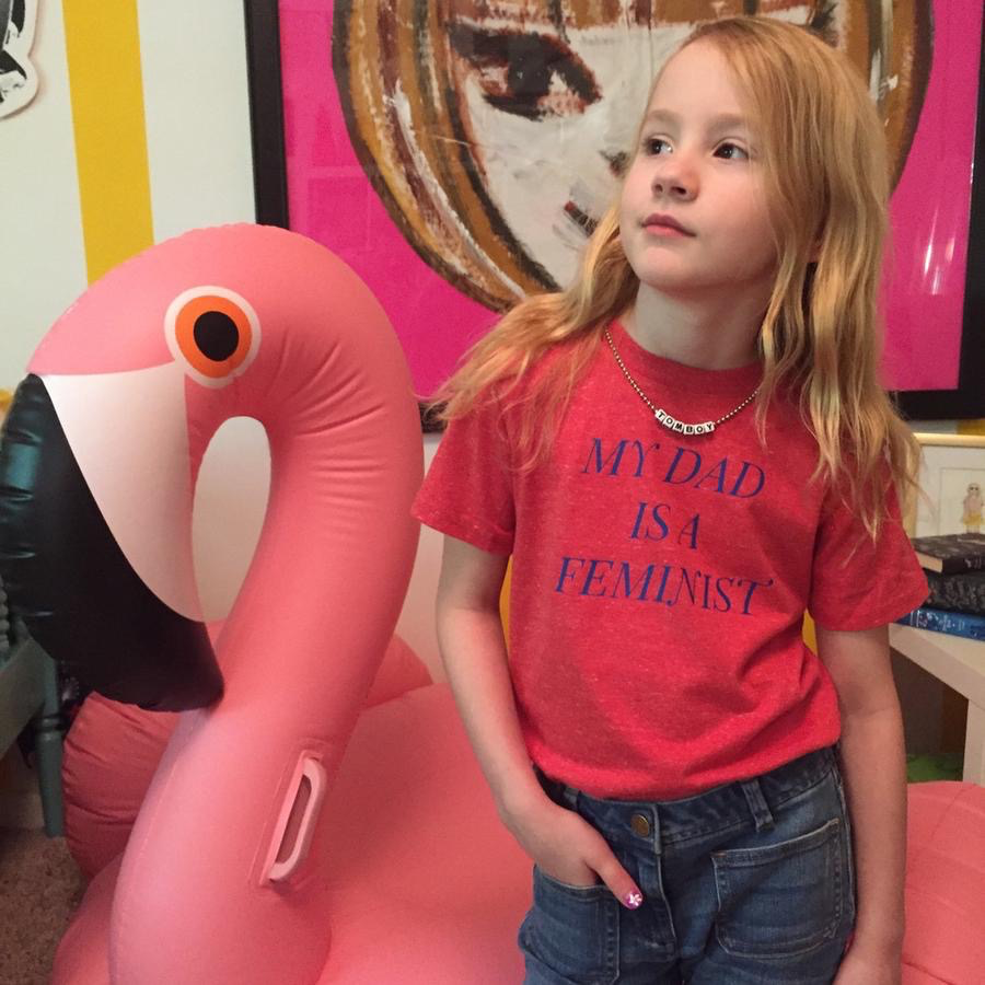 """Little Lux Little Lux """"My Dad is a Feminist"""" T-shirt"""