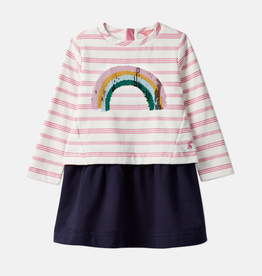 Joules Joules Lucy Sequin Rainbow Dress