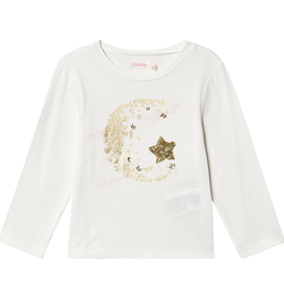 Billieblush Billieblush Long Sleeve Tee with Moon Graphic