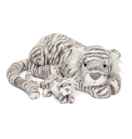 JellyCat Jelly Cat Sacha Snow Tiger Little