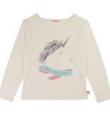 Billieblush Billieblush Long Sleeve Tee with Unicorn Graphic