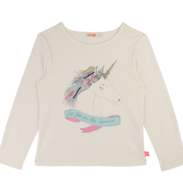 Billieblush Billieblush Long Sleeve Tee with Unicorn Graphic