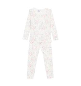 Petit Bateau Petit Bateau Loungewear: Floral Long Sleeve Top and Pants