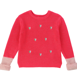 Billieblush Billieblush Sweater with Heart Details