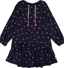 Billieblush Billieblush Long Sleeve Dress with Fancy Poping on Pom Pom
