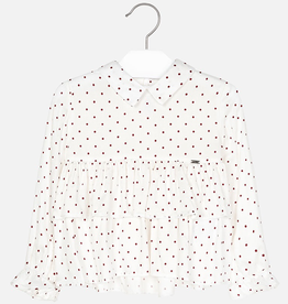 Mayoral Mayoral Polka Dot Ruffled Blouse