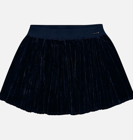 Mayoral Mayoral Pleated Velvet Skirt