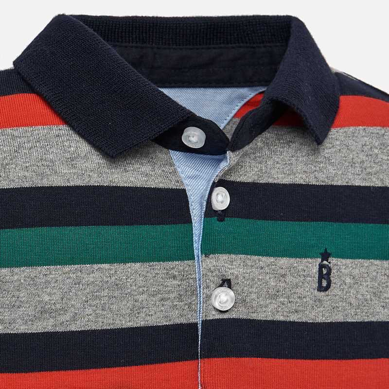 Mayoral Mayoral Long Sleeve Striped Polo