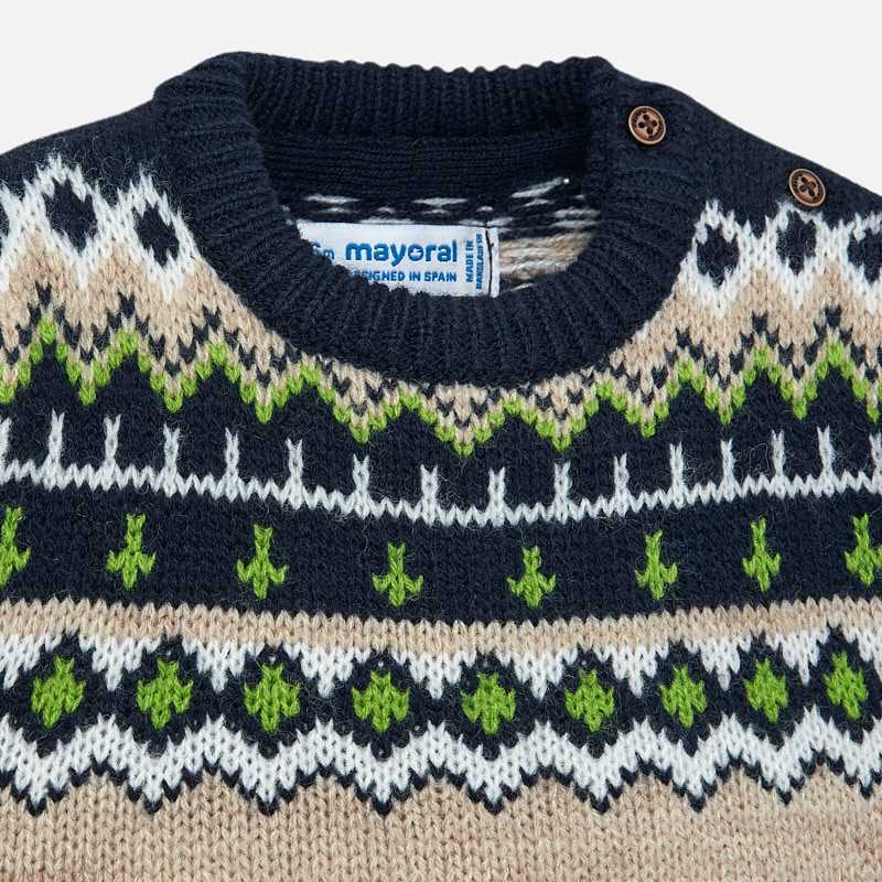 Mayoral Mayoral Jacquard Knit Pullover Sweater