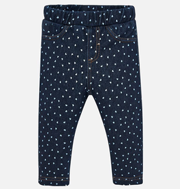 Mayoral Mayoral Heart Printed Denim Pant