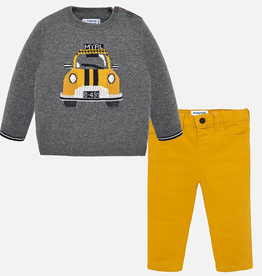 Mayoral Mayoral Taxi Sweater Set