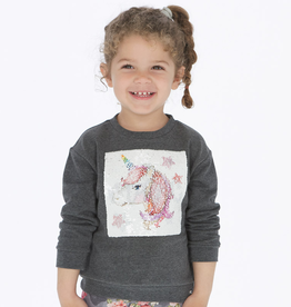 Mayoral Mayoral Sequin Unicorn Pullover