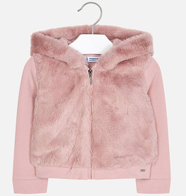 Mayoral Mayoral Faux Fur Zippered Jacket