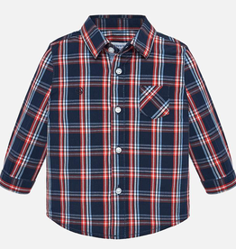 Mayoral Mayoral Long Sleeve Poplin Check Shirt