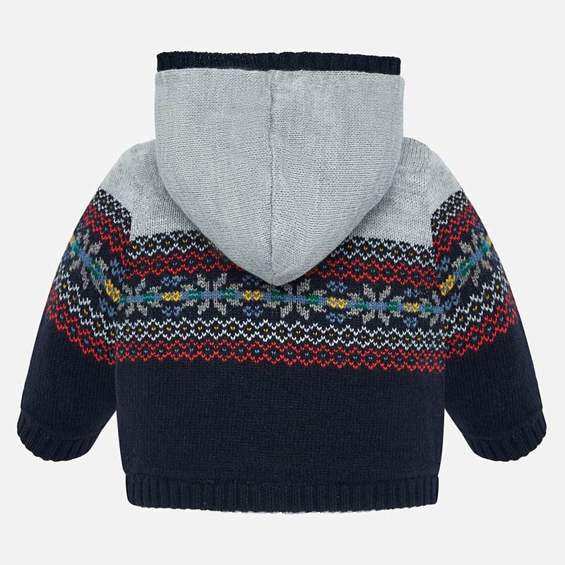 Mayoral Mayoral Jacquard Knit Zippered Sweater