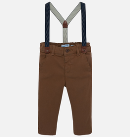 Mayoral Mayoral Lined Suspender Chino Pant