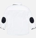 Mayoral Mayoral Long Sleeve Buttondown Shirt with bow tie