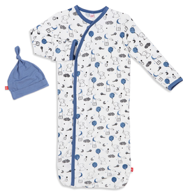 Magnificent Baby Magnificent Baby Skylark Modal Sack Gown Set *more colors*