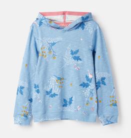 Joules Joules Dino Floral Print Hooded Sweatshirt