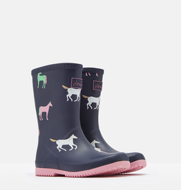 Joules Joules Junior Roll Up Horses Welly Boots