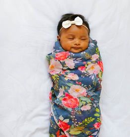 Loulou Lollipop Loulou Lollipop Midnight Bloom Muslin Swaddle